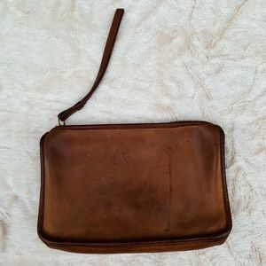 Coach Brown Leather Wallet Clutch Bag